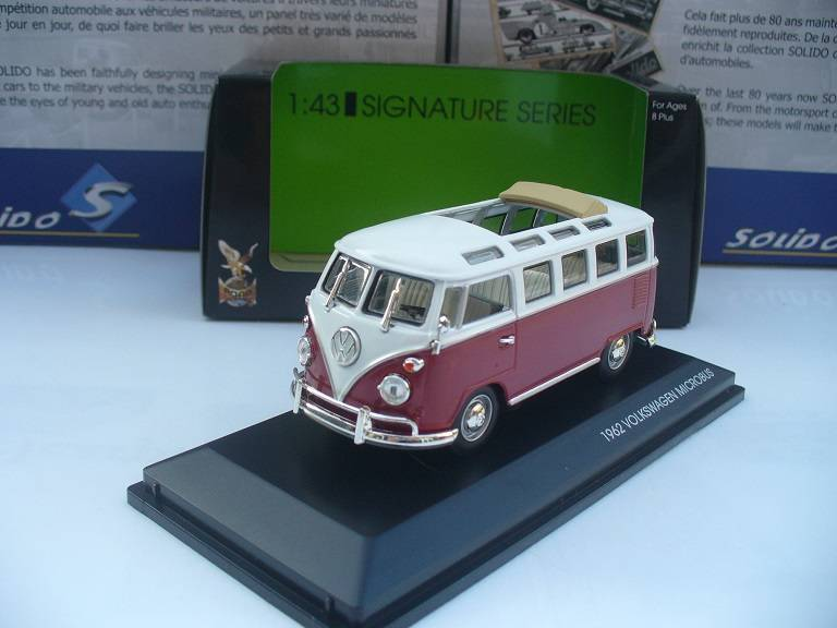 VW Volkswagen T1 Microbus Rood Wit Yatming 1/43