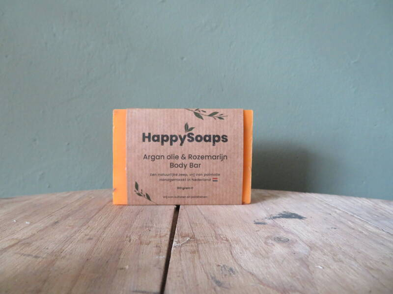 Happy Soaps Body Bar - Arganolie en Rozemarijn