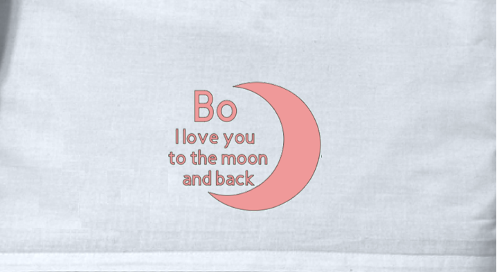 Lakentje l I love you to the moon and back