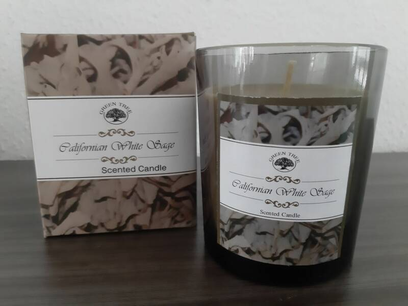 Green Tree ~ Californian White Sage candle