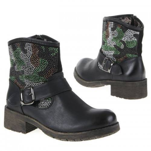 Dames-boot (E8207-black)