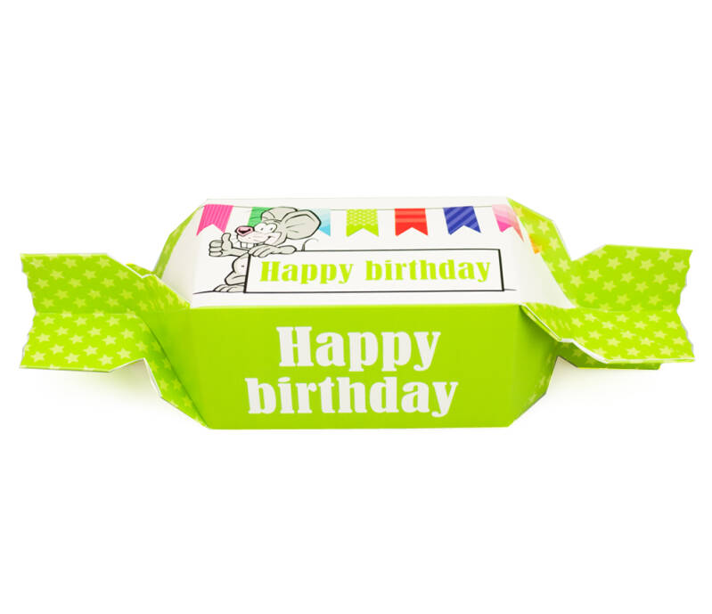 SC7801 Toffeedoos happy birthday per pak (10 x € 0,85)