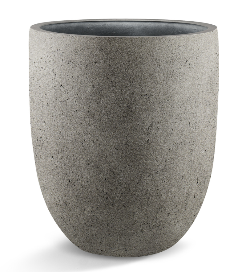 Grigio Tall Egg pot Natural concrete