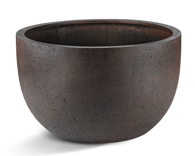 Grigio New Egg Low pot Rusty iron concrete