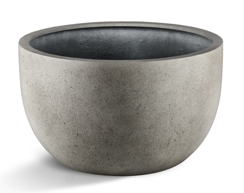 Grigio New Egg Low pot  Natural concrete