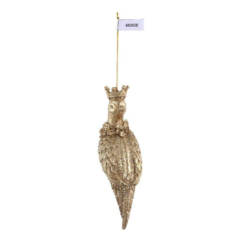 Christmas basile gold poly pheasant with crown s