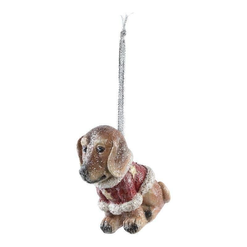 Christmas dog poly glitter golden retriever hang