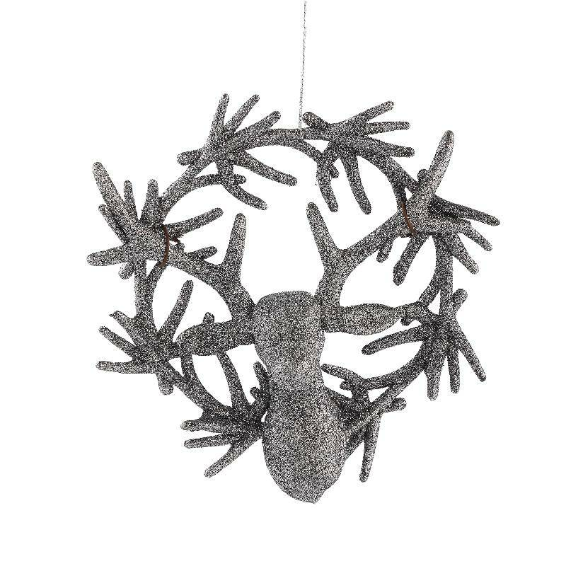 Splendy grey synthetic hanging deerhead