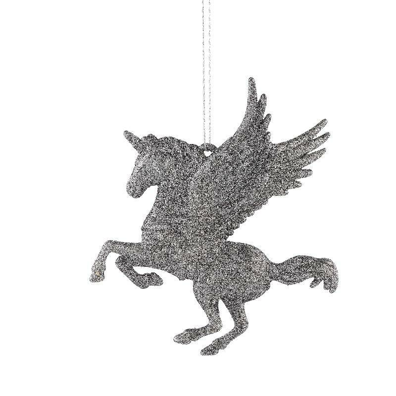 Splendy grey synthetic hanging horse