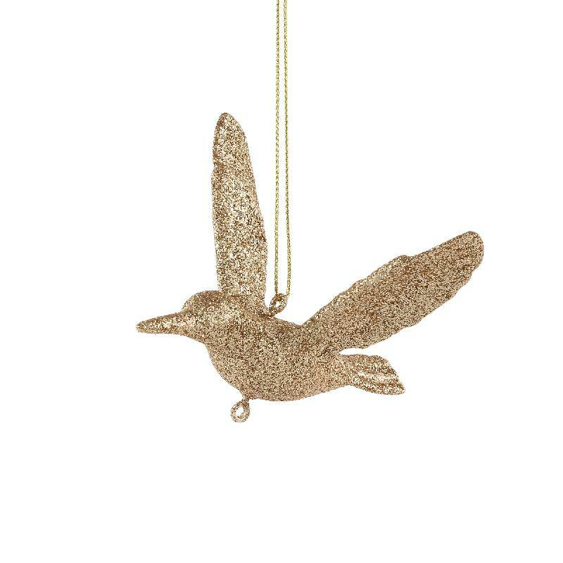 Splendy gold synthetic hanging bird