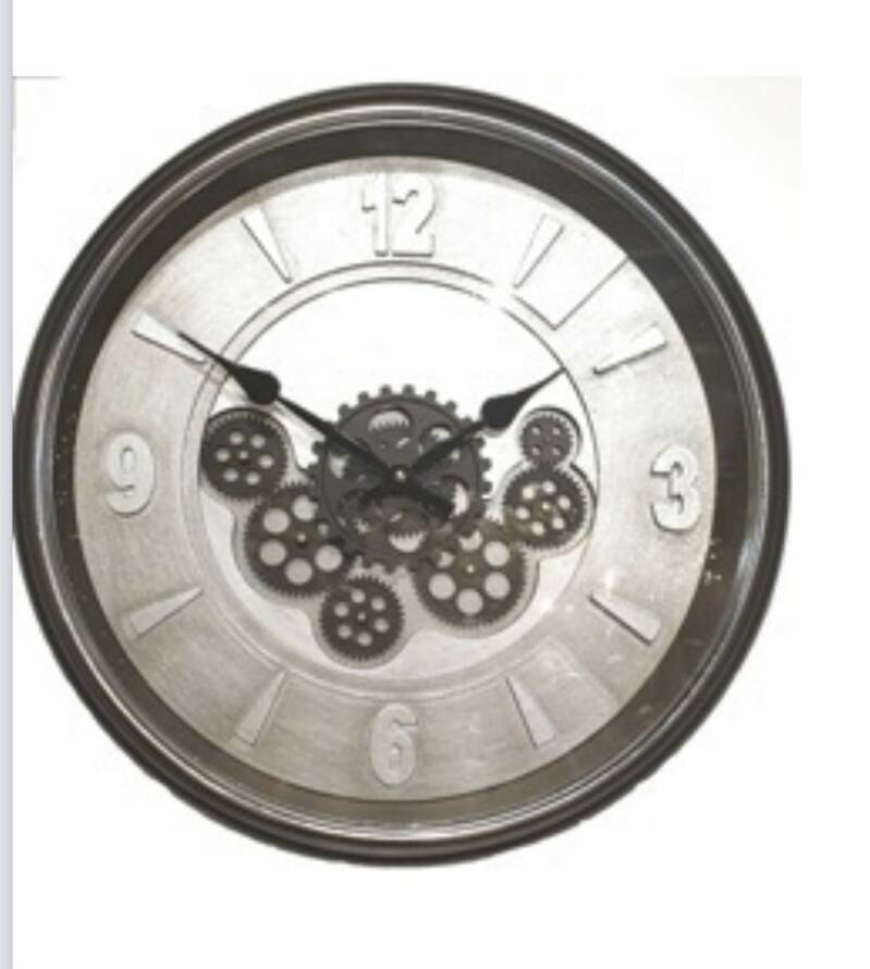 Gear Clock Frost 4digit with Glass Dia50*8.5cm