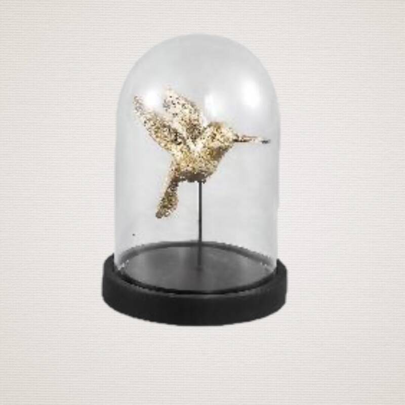 BELLZ RETRO SINGLE HUMMINGBIRD GLASS JAR