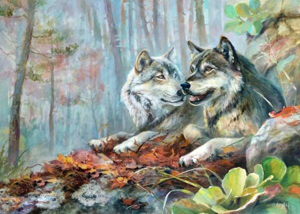 2 wolven