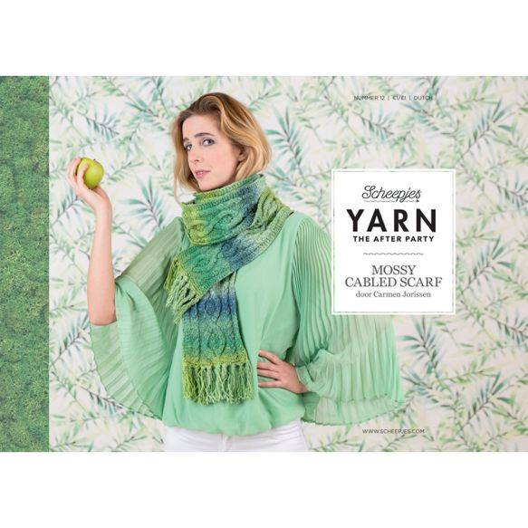 Yarn the afterparty, no 12, Mossy cabled scarf