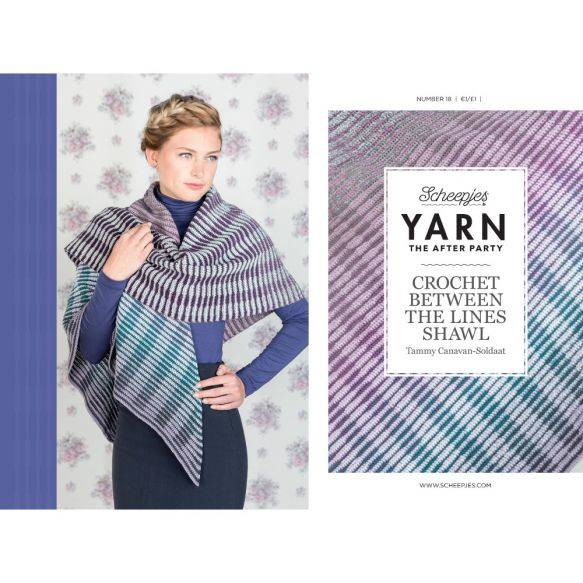 Yarn the afterparty, no 18, Crochet between the lines shawl