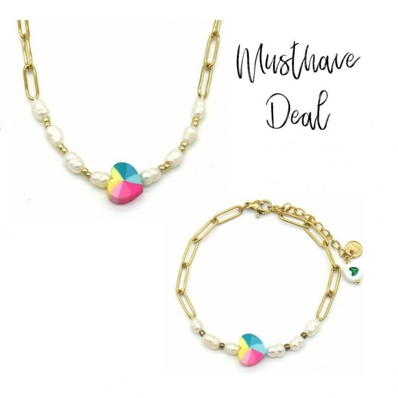 Musthave Deal - Colourful Heart Ketting & Armband