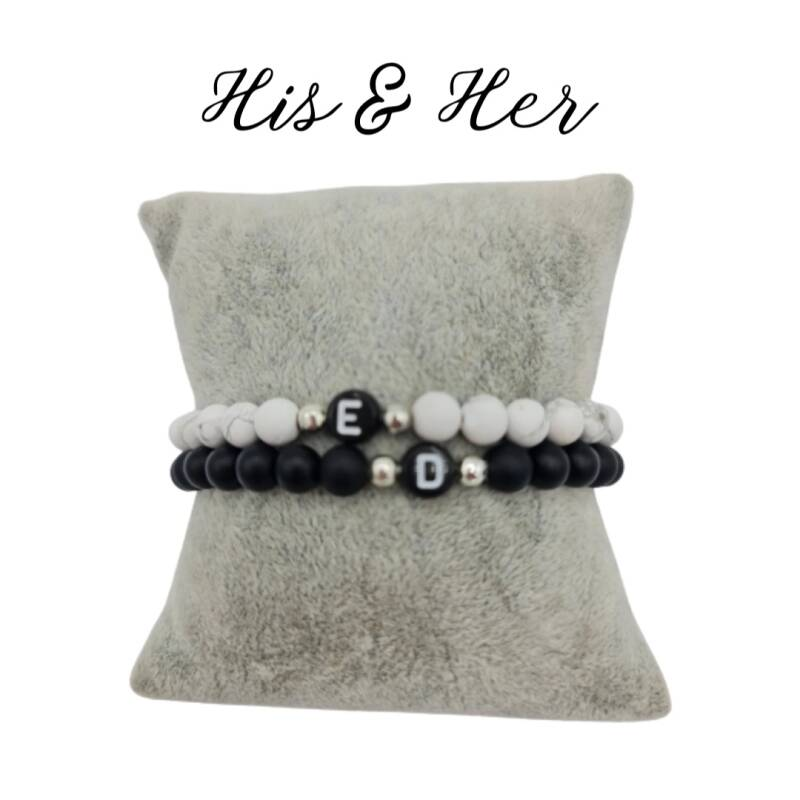 His & Her armband - Initial