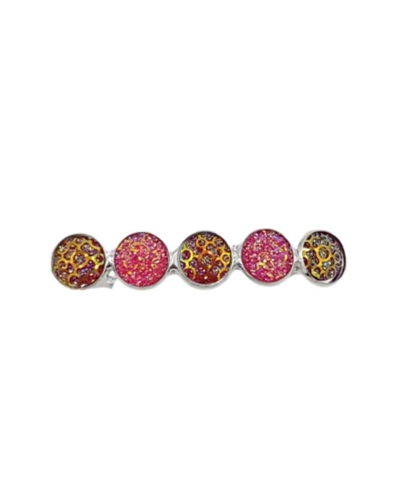Haarspeld Cabochons Sparkle Pink