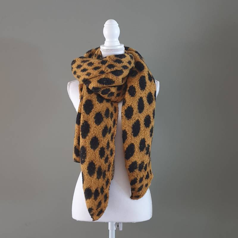 Sjaal Cheetah Yellow