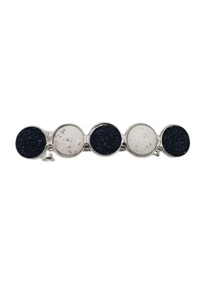 Haarspeld Cabochons Black/White