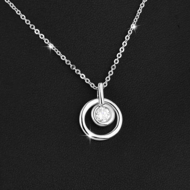 Ketting Circle of Love - Zilver