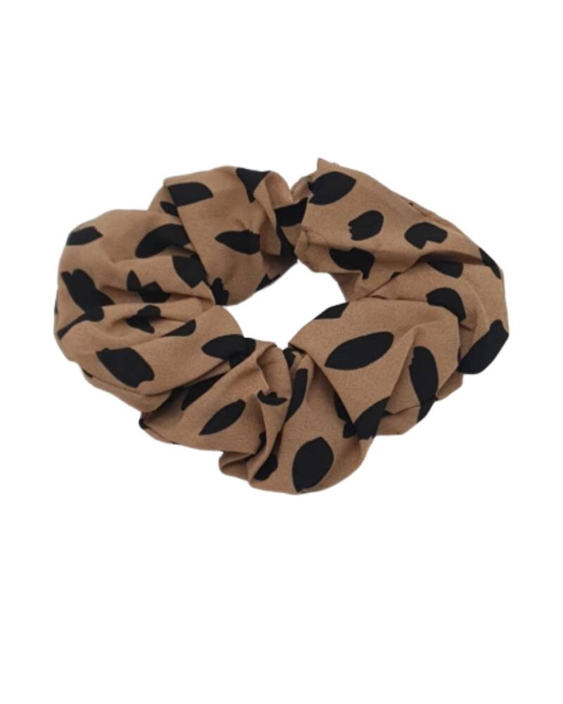 Big Scrunchie Camel Dots