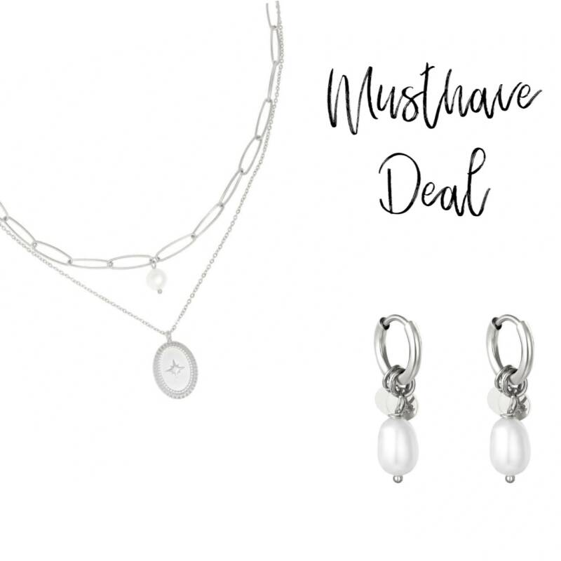 Musthave Deal - Sieradenset Pretty Pearl Zilver