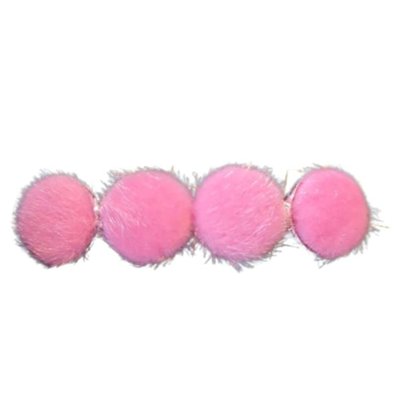 Haarspeld Big Cabochon Furry Pink