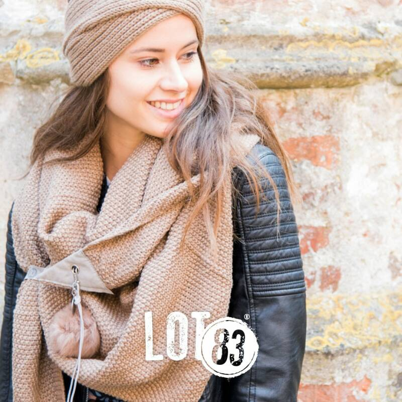 Lot83 Sjaal Jo Taupe