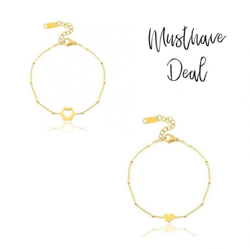 Musthave Deal - Armbandenset Heart Goud