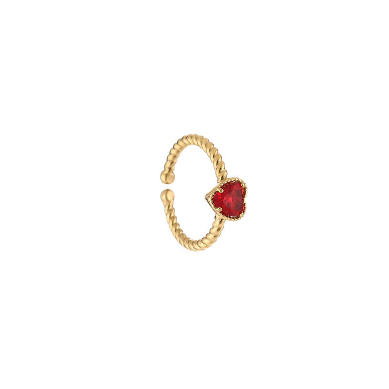 Ring Hart Steen - Rood
