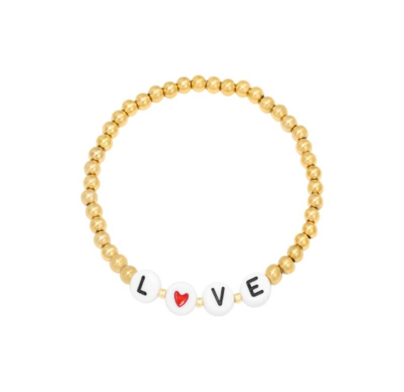 Stainless Steel Armband Love Me Goud