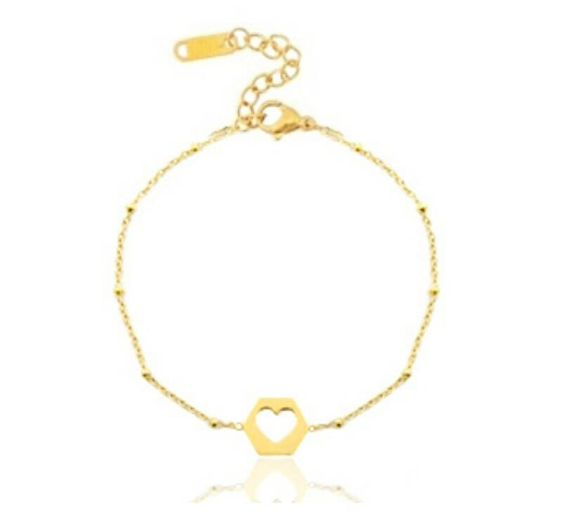 Stainless Steel armband - My Open Heart Goud