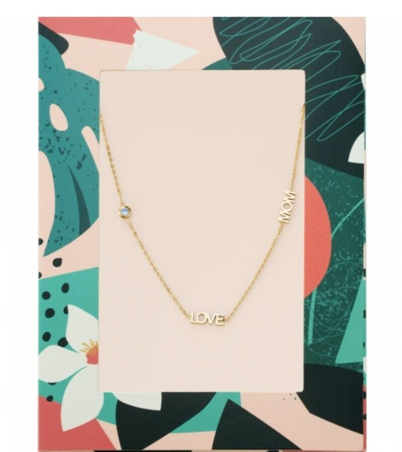 LOVE MOM NECKLACE GOLD