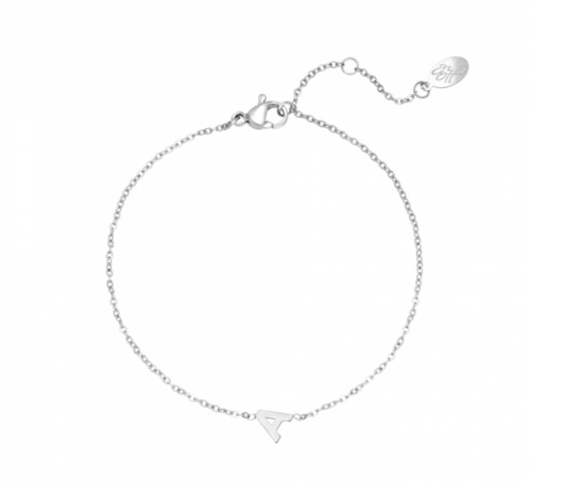 INITIAL ARMBAND ZILVER