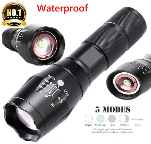 Military flashlight waterproof 5 modus