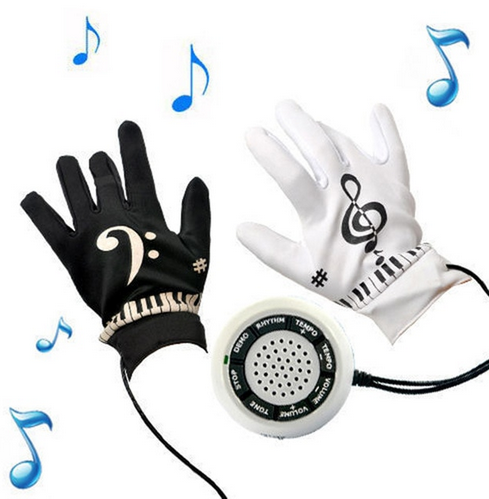 Electronic Piano Gloves for playing piano on any surface!