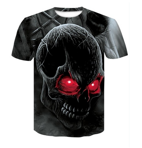 Skull red eyes 3D T-shirts