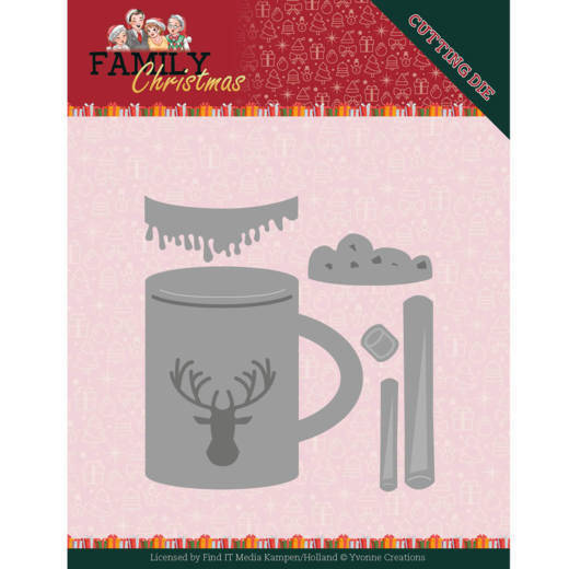 Yvonne Creations, Snijmal, Family Christmas, Hot Drink - YCD10186