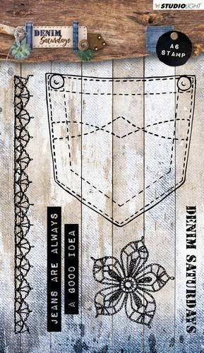 Studiolight, Clear Stamp, Denim Saturdays - STAMPDEN326