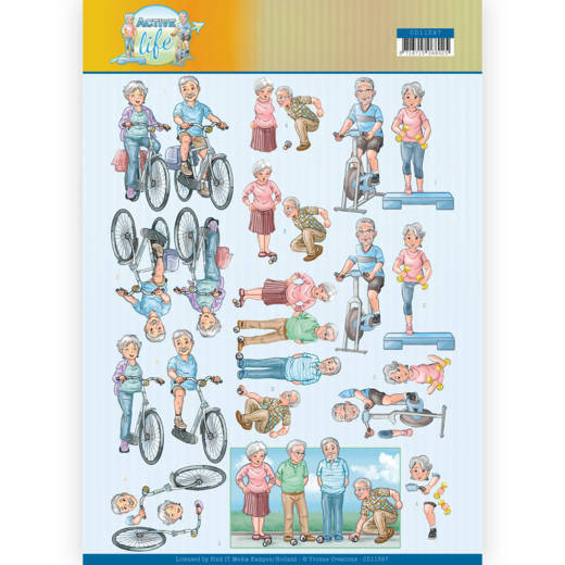 Yvonne Creations, 3D Knipvel, Active Life, Active Moving - CD11397
