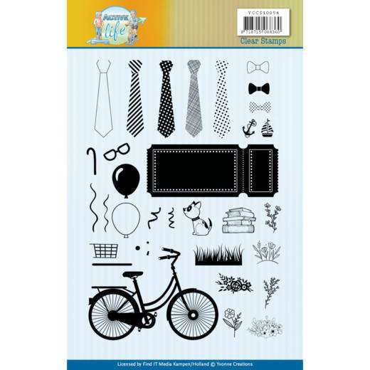 Yvonne Creations, Clear Stamp, Active Life - YCSS10054