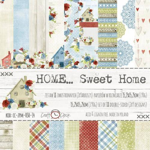 Craft O Clock, Paperpad, Home Sweet Home, 15,25 x 15,25 cm