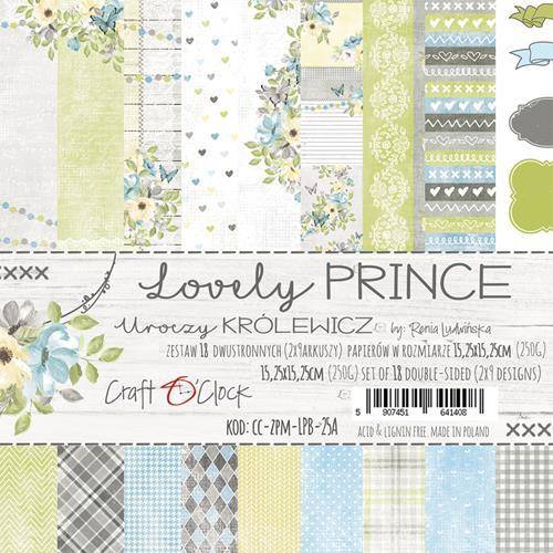 Craft O Clock, Paperpad, Lovely Prince, 15,25 x 15,25 cm