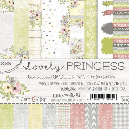 Craft O Clock, Paperpad, Lovely Princess 15,25 x 15,25 cm