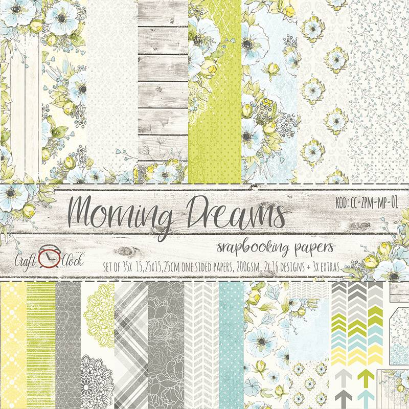 Craft O Clock, Paperpad, Morning Dreams, 15,25 x 15,25 cm