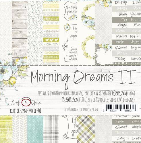 Craft O Clock, Paperpad, Morning Dreams II, 15,25 x 15,25 cm