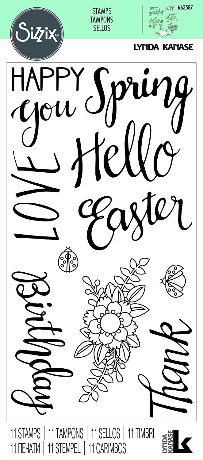 Sizzix, Clear Stamp , Spring Phrases - 663587