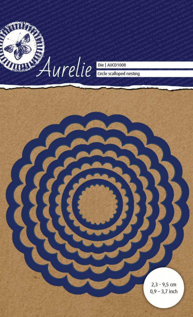 Aurelie, Snijmal, Circle Scalloped Nesting - AUCD1008