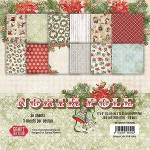 Craft & You, Paperpad, North Pole, 6x6 inch - CPB-NP15